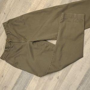 Chino flat front pants